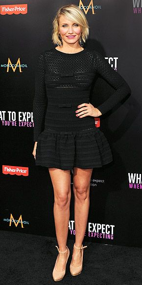 CAMERON DIAZ - vip to dress age appropriate, turning 40 in August this Valentino mini actually ages her