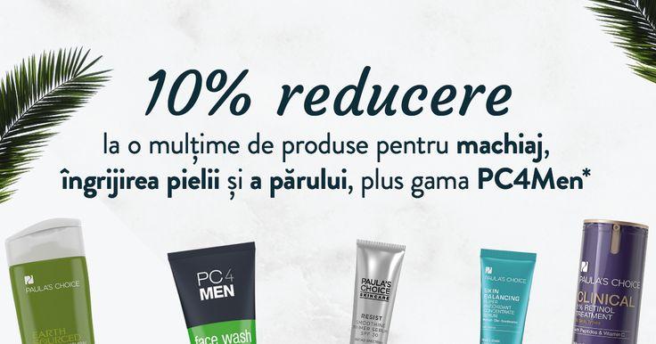 🌼 🌿 Împrospătează-ți rutina de primăvară! În perioada 15 - 31 martie, ai 10% REDUCERE la o mulțime de produse pentru machiaj, îngrijirea pielii și a părului, plus gama PC4Men, destinată bărbaților. Descoperă oferta!