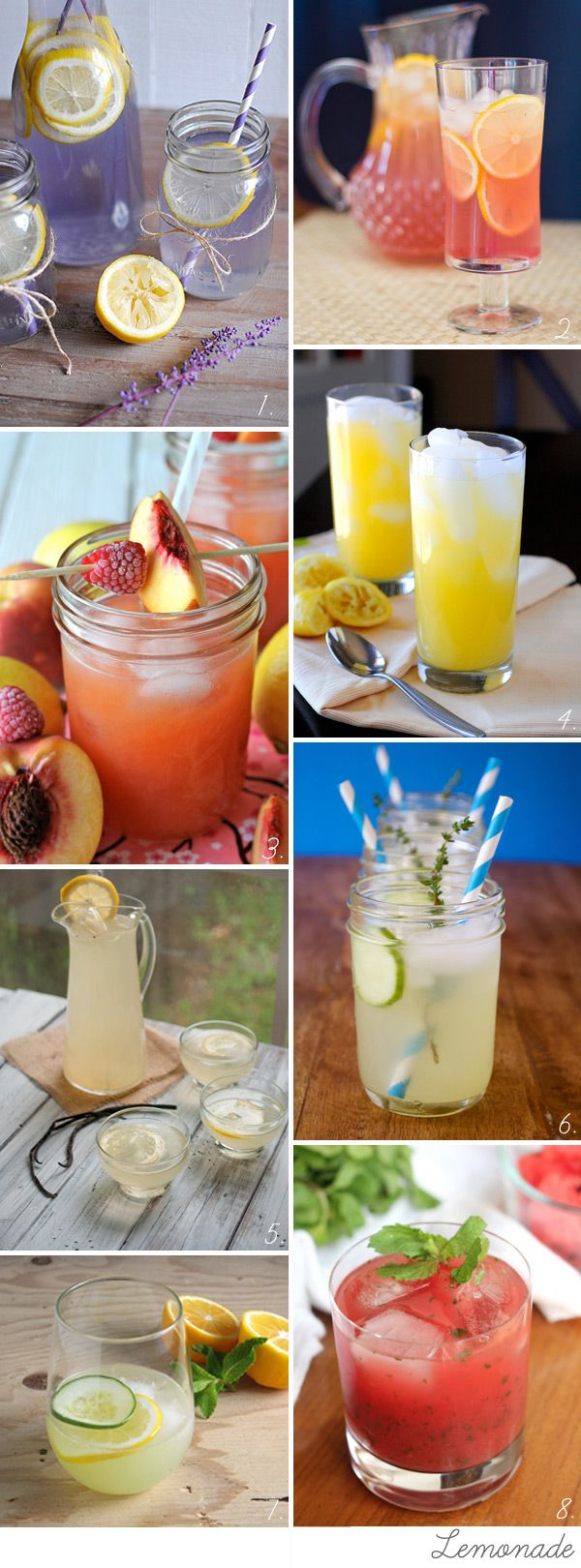 Lemonade and homemade refreshers  non-alcoholic cocktails-don't want alcohol at the wedding, but I do want lots of different drinks!