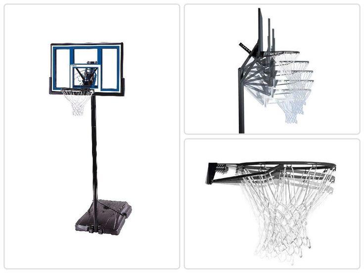 Portable Basketball Hoop 48 In With Shatterproof Backboard Basketball System #psdiscount #psdiscountshop #sport #nba #sports  #basketball