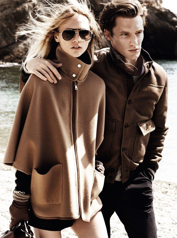 Sasha Pivovarova and Shaun De Wet by Mario Testino for Massimo Dutti Fall Winter 2014-2015