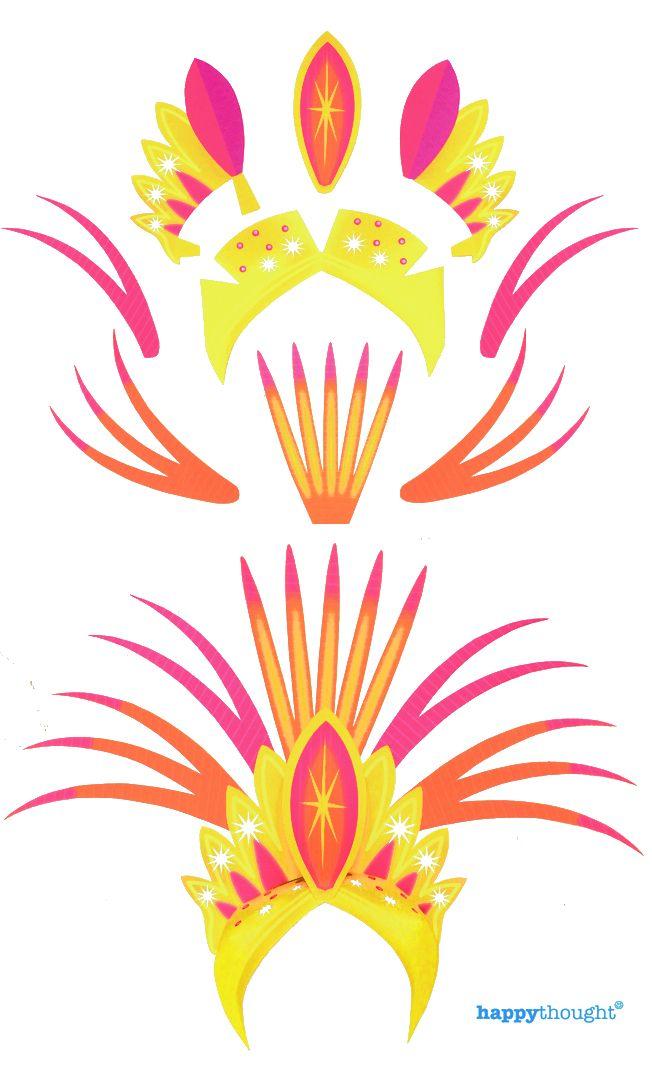 carnival headdress template bing images. Black Bedroom Furniture Sets. Home Design Ideas