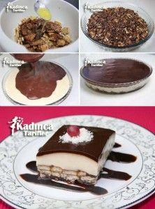 Çikolata Soslu Bisküvili Pasta Tarifi