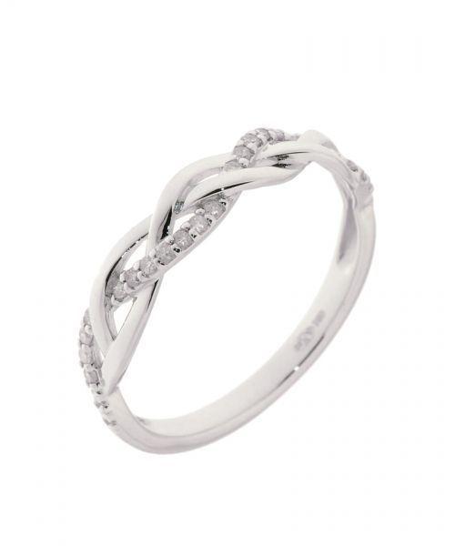 Demi Alliance Or Blanc  Diamant 0.10 carat Ref. 35950 : Bague pour Femmes en Or Blanc 750  disponible sur la Bijouterie en ligne Trabbia Vuillermoz