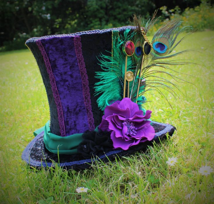 Mad Hatter Hat. Custom made fancy dress by Faerie In The Foxglove.