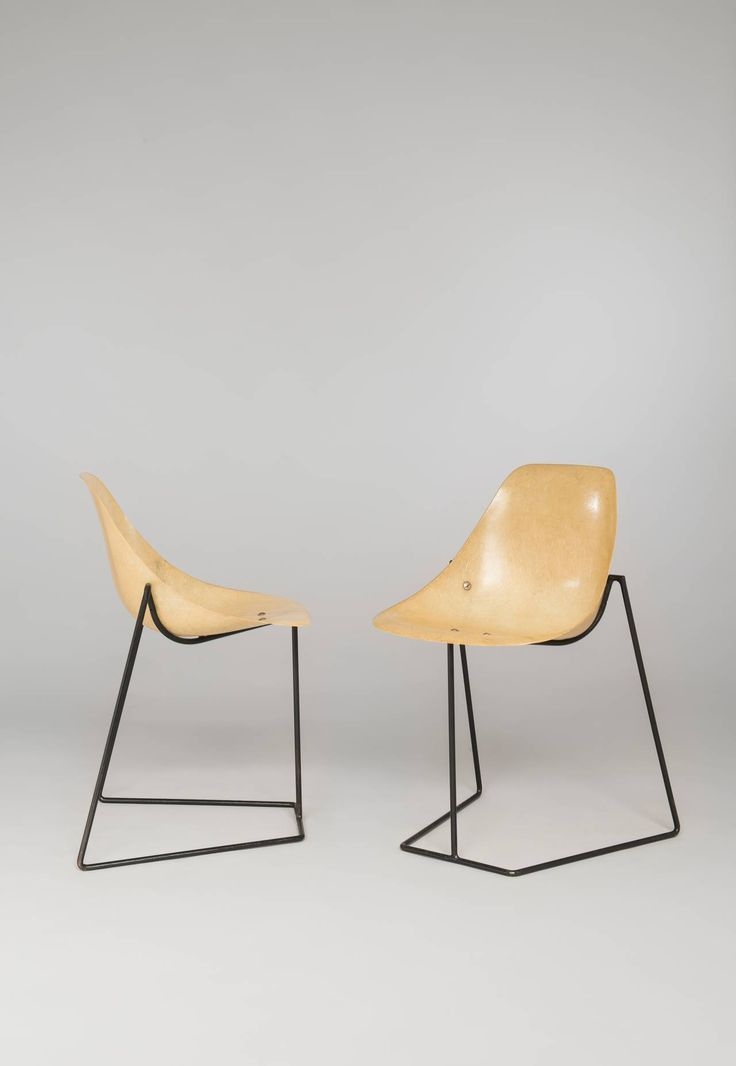 High Quality Pair Of Coccinelle Chairs By René Jean Caillette   Steiner Edition   1957  Image 2