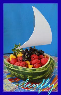 Nautical wheel watermelon