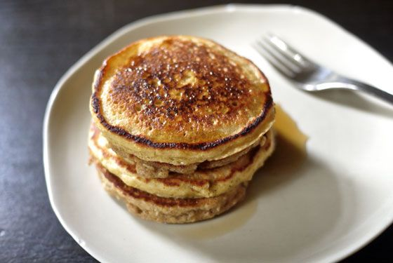 Coconut Quinoa Pancakes (with Gluten-Free Option) by onehungrymama: These are packed with nutrition without being heavy.
