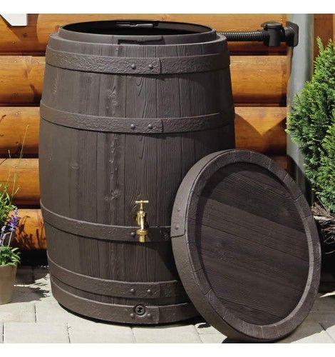 250L Vino Rustic Wood Effect Rain Barrel