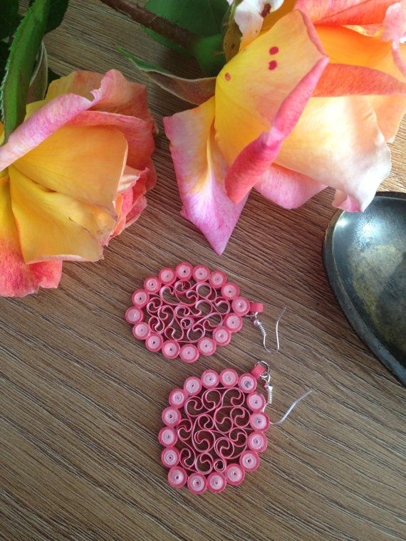 handmade paper quilled earrings by PAPERCRIB on Etsy, £8.00