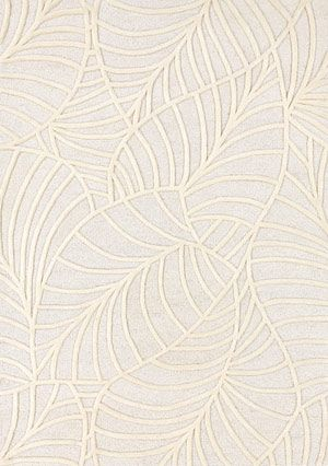 Ligne Pure Fantasize Hi-Lo Textured Neutral Leaves Modern Rug