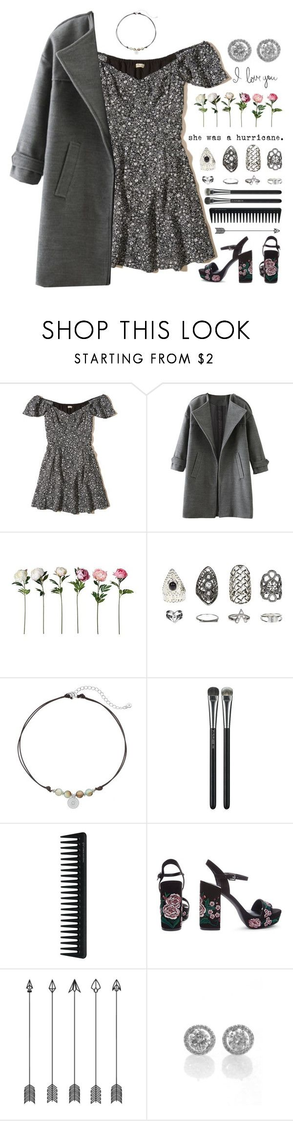 """""""Yvonne"""" by brie-the-pixie ❤ liked on Polyvore featuring Hollister Co., Relic, LC Lauren Conrad, MAC Cosmetics and GHD"""