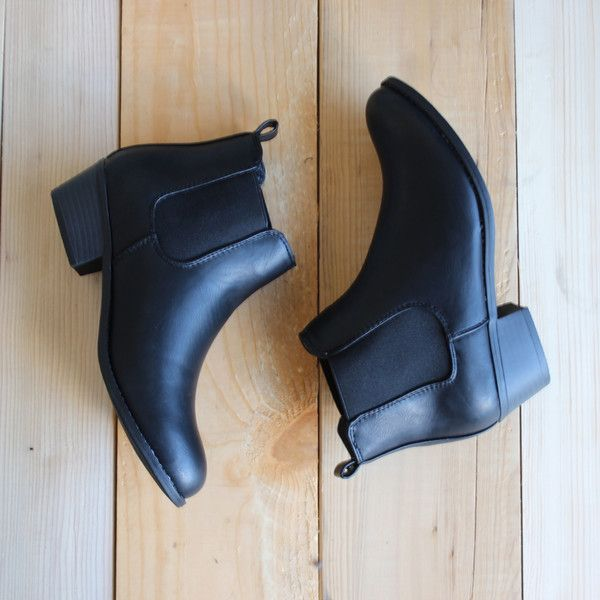 black chelsea boots outfit outfits spring summer winter booties boot shoes shoe fashion women's faux leather cute year round