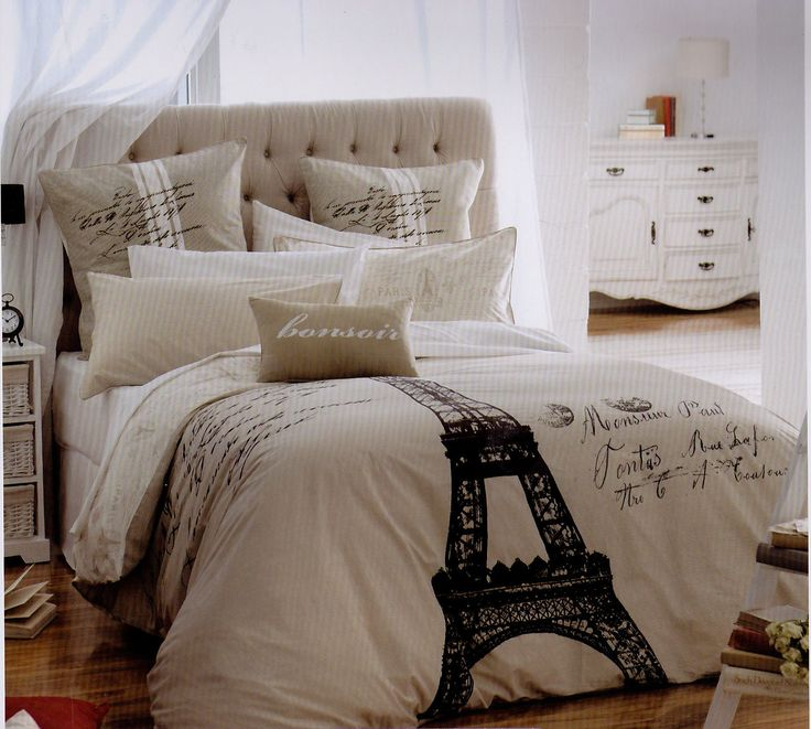 king size international themed Comforter | Eiffel Tower ~Paris~ King Size Quilt Cover Set 250 TC Cotton New