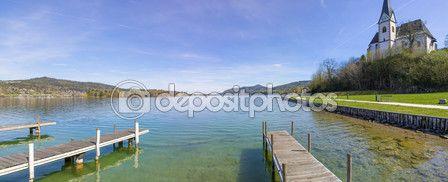 #Lake #Woerth #View To #MariaWoerth #Church @depositphotos #depositphotos @carinzia @meinwoerthersee #ktr15 #nature #landscape #woerthersee #carinthia #austria #travel #holiday #vacation #season #summer #spring #stock #photo #portfolio #download #hires #royaltyfree