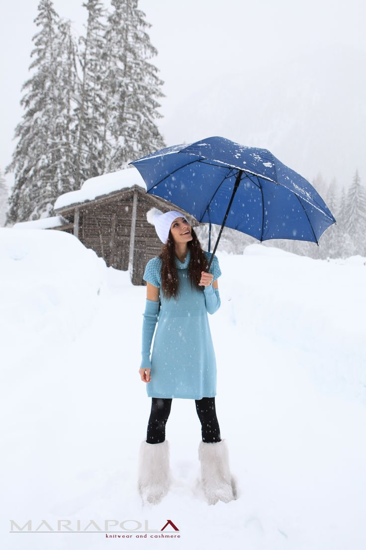 """""""Light Blue Dream"""" Mariapola Knitwear in Merinos Wool. Italian Manifacture and Fashion. Fall Winter 2014-2015.#winter#girl#freedom#natural#snow #funny #beautifulday"""