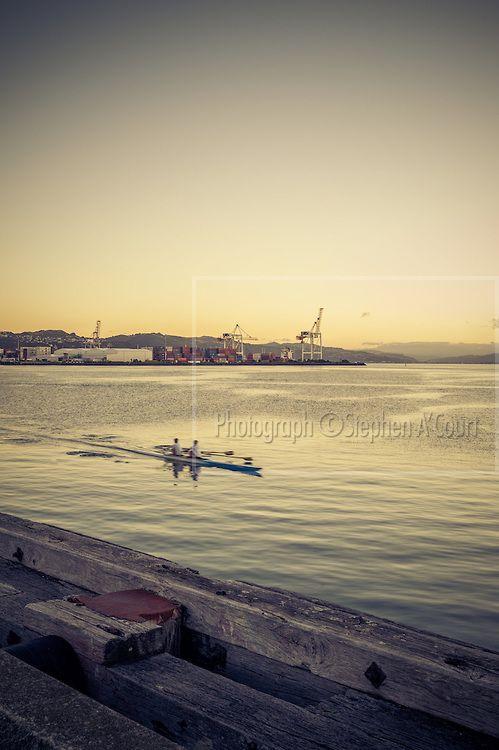 Wellington harbour.  Photo credit: Stephen A'Court.  COPYRIGHT ©Stephen A'Court, Feb 2011.