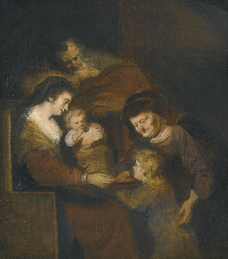 Salomon Koninck AMSTERDAM 1609 - 1656 THE HOLY FAMILY oil on canvas 32.1 by 28 cm.; 12 5/8  by 11 in.:
