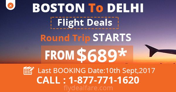 BOSTON TO INDIA ROUND TRIP DEALS Looking for cheap flight deals! FlyDealFare is introducing exciting offers of #RoundTrip from Boston to Delhi, starting from just $699*. Book the #CheapestFlight now and enjoy great #AirfareDeals on #BostontoDelhi flights.