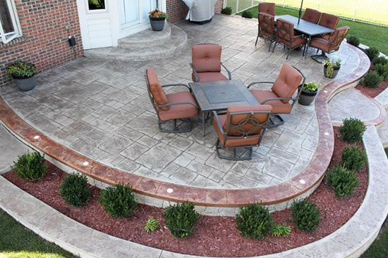 12 Great Ideas For A Modest Backyard: Patios Gallery / 12-Patio-Designs-Stained