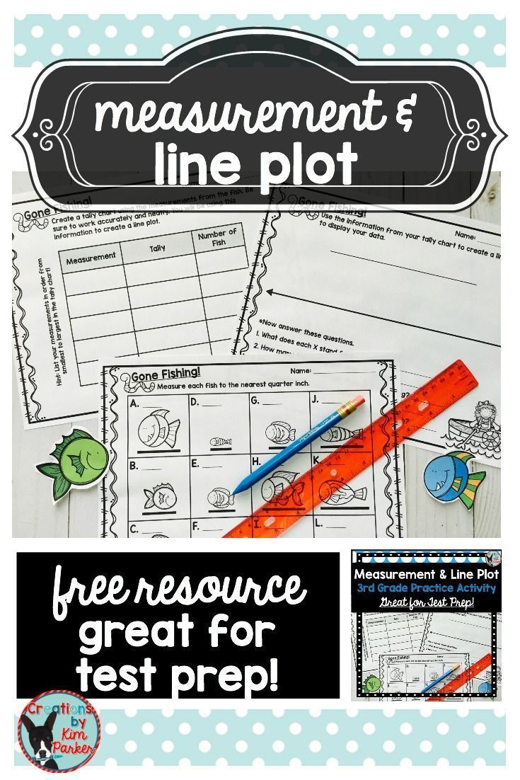 FREE Resource! In this activity your students must measure accurately to the nearest quarter inch, create a tally chart, then use the information to create a line plot, and finally answer 5 questions about their data. This would make a great test prep activity! The answer key is included. FREE!