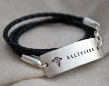 Large Medical Alert Wrap Bracelet - Two Sided - Customize