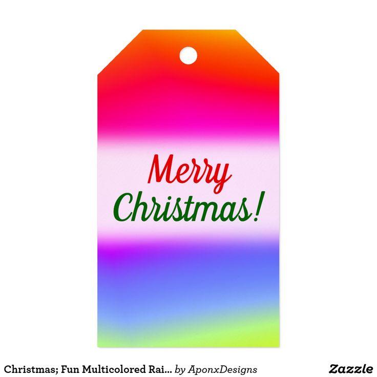Christmas; Fun Multicolored Rainbow-Like Pattern