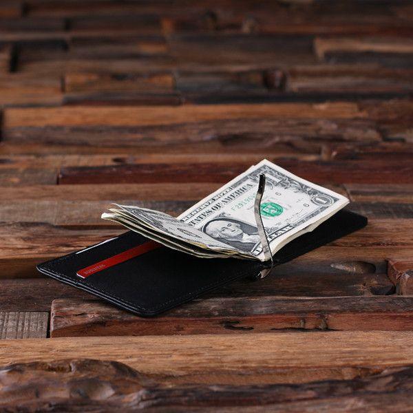 Men's Laser Engraved Money Clip Wallet