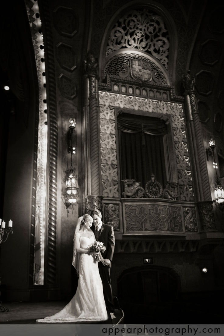 Theatre wedding- the pictures are always so awesome.