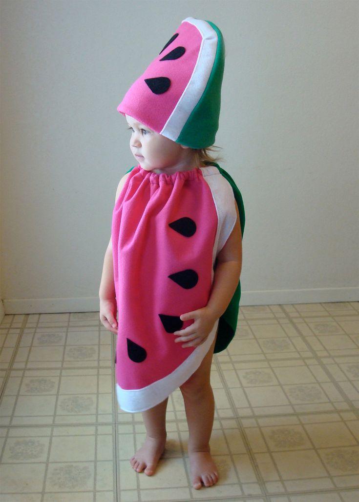 Kids Costume Halloween Costume Watermelon Costume Childrens Costume. $65.00, via Etsy.