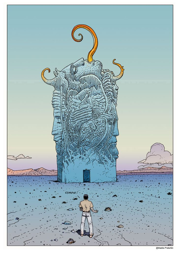 #Moebius (1938- 2012. Jean Henri #Gaston Giraud was a French artist, cartoonist, and writer):