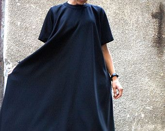 XXLXXXL Maxi Dress / Black Kaftan / Extravagant Long  by Aakasha