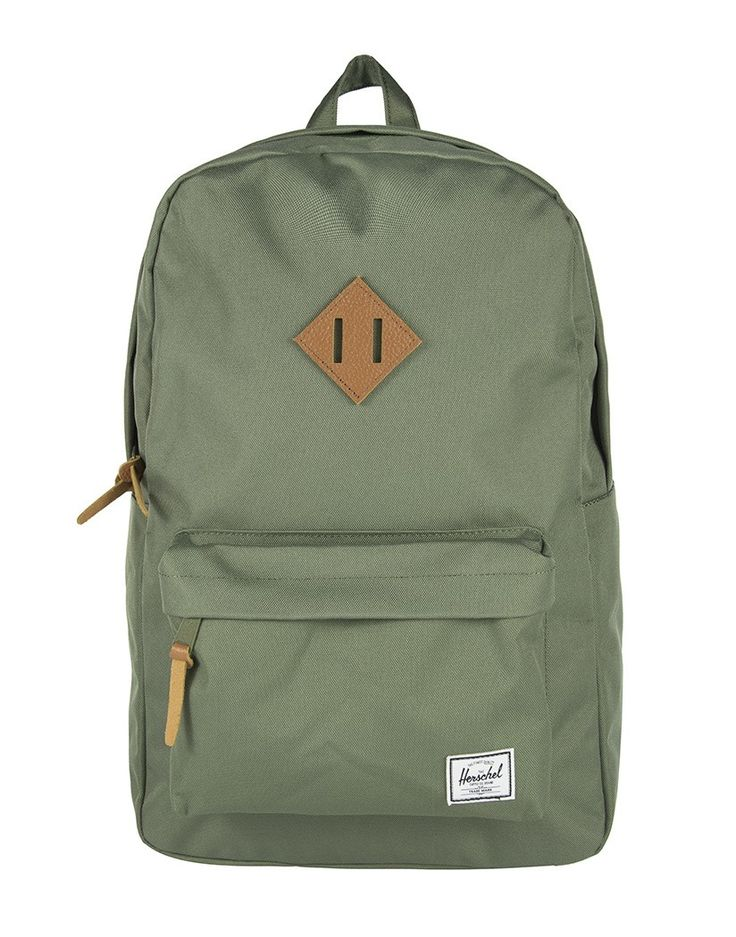 Herschel Heritage Backpack - Deep Litchen Green/Tan Leather - Men | Country Attire