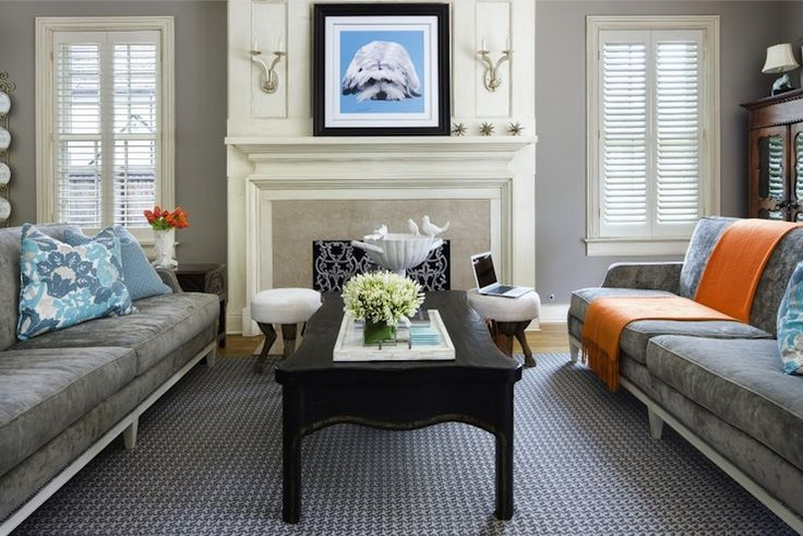 Benjamin moore stonington gray dining room inspiration for C o the living room