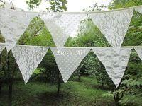 10 drapeaux- 2.9m dentelle bannières personnalité vintage mariage bruant décor de fête d'anniversaire bébé spectacle décoration guirlande