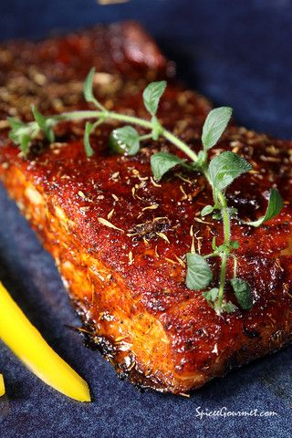 Easy Baked Salmon Recipe - #salmon #spiceegourmet #Dan330 #foodporn http://livedan330.com/2014/12/24/easy-baked-salmon-recipe/