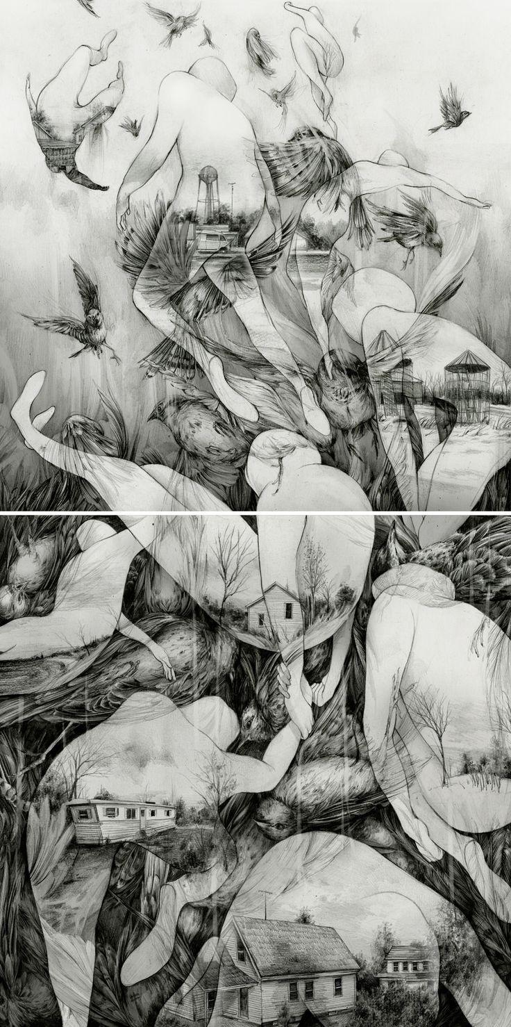 Sketchbook drawings by Pat Perry