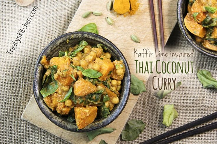 Thai Coconut Curry with kaffir lime leaves and butternut squash – Trinity's Conscious Kitchen