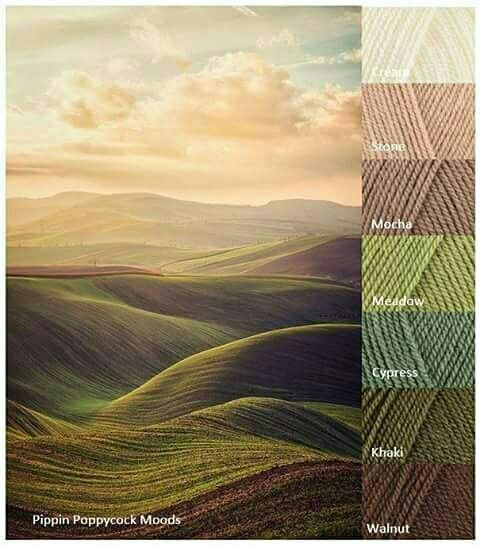 Earthy yarn color combo