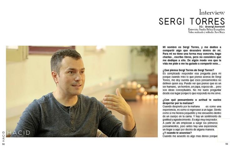 Entrevista Sergi Torres. @sergi.torres9  Por @yoga_is_love_bcn. HACID MAGAZINE 39 online! Now also print version!  See link Bio! #hacidmagazine FOLLOW US !