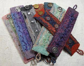 Cuff bracelets using various fibers - FUN!