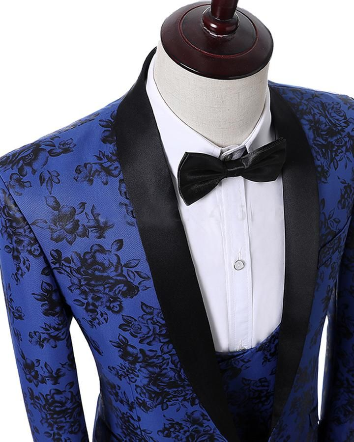 New Men/'s Formal Vest Tuxedo Waistcoat Royal blue with Bowtie wedding prom party