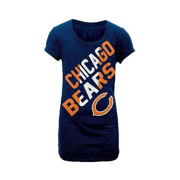 Chicago Bears T-Shirt Tri-blend Scoop T-Shirt, Women's, Size: ,... ($23) ❤ liked on Polyvore featuring tops, t-shirts, multicolored, blue tee, print t shirts, chicago bears shirts, multi color t shirts and blue shirt
