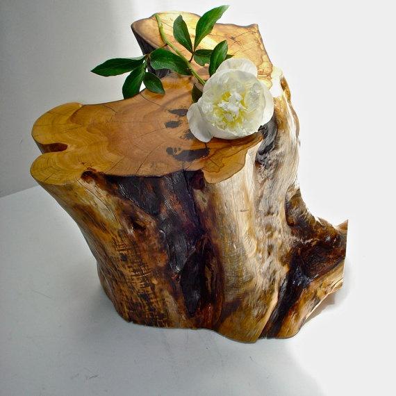 Cedar Stump side table