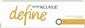 1DAY ACUVUE DEFINE with LACREON contact lenses help enhance the natural beauty of your eyes by adding depth and greater definition.
