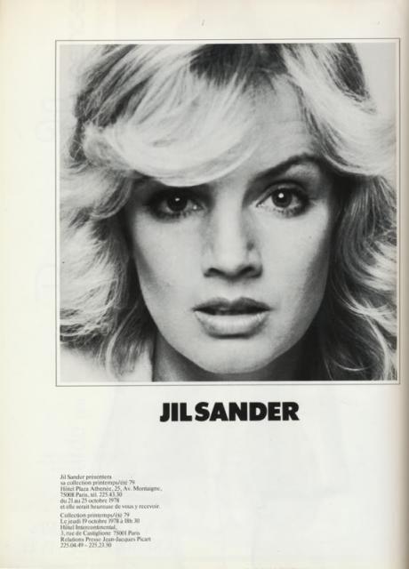 Vintage Jil Sander ad.