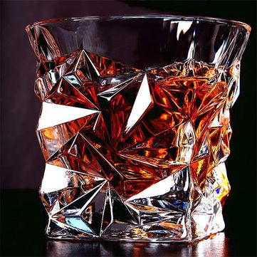 Lead - free Glass Diamonds Whiskey Vodka Wine Beer Glass Cup