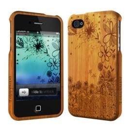 primovisto engraved flowers bamboo case for iPhone 5 - £35