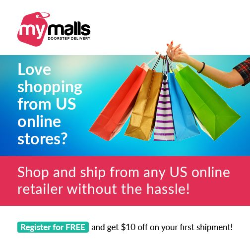 Love #shopping from US online stores? Register now and get $10 off on your first shipment.