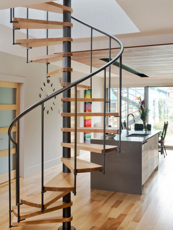 51 best images about stairs on pinterest miniature for Two story spiral staircase